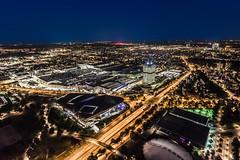 Munich from Olympic tower (hjuengst) Tags: olympiaturm olympictower munich münchen munichatnight nacht night nightshot nachtaufnahme blauestunde bluehour traffic verkehr bmw bmwtower architektur architecture weitwinkel wideangle