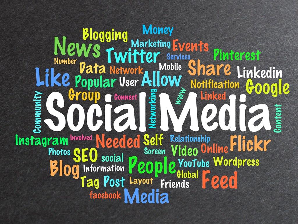 f5999d6eb0b8 Social Media Word Cloud (BitsFromBytes) Tags  socialmedia socialmediaicons  socialicons icons illustration montage logos