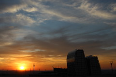 Sunset in Sandton (Rckr88) Tags: sunset sandton sunsetinsandton sun sunlight sunsets johannesburg southafrica south africa clouds cloudy cloudysky sky skyline skyscrapers skyscraper architecture buildings building