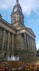 A photo of the Bolton Town Hall (DPP Law) Tags: bolton uk city street history leaves scenic old building people autumn town hall legal solicitor council meeting historical architecture north west manchester