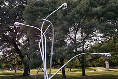 Various Positions (pni) Tags: municipal street lamps galvanisedsteeltreegrasslawn friezesculpture2018 regentspark uk18 london uk england unitedkingdom pekkanikrus skrubu pni