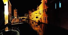 Chioggia (Luc1659) Tags: notte laguna italy silenzio acqua luce yellow reflections notturno infinitexposure