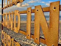 sandy sign (dirk.werdelmann) Tags: holland trip journey sea nikon urlaub sun natur nature zee holiday view werdelmann nederland meer blick sundowner