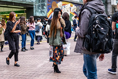Thirst For Life (burnt dirt) Tags: asian japan tokyo shibuya station streetphotography documentary candid portrait fujifilm xt1 bw blackandwhite laugh smile cute sexy latina young girl woman japanese korean thai dress skirt shorts jeans jacket leather pants boots heels stilettos bra stockings tights yogapants leggings couple lovers friends longhair shorthair ponytail cellphone glasses sunglasses blonde brunette redhead tattoo model train bus busstation metro city town downtown sidewalk pretty beautiful selfie fashion pregnant sweater people person costume cosplay boobs