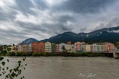 Österreich - Innsbruck 249 (Peter Goll thx for +8.000.000 views) Tags: bunt fluss color österreich innsbruck austria berge haus alpen colour colorful river house häuser inn wolken alps tirol at