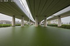 Maximabrug_AlphenaandenRijn from below (Joop_K) Tags: architecture greenwater tamronsp1530mmf28divcusd alphenaandenrijn maximabrug bridge nikond850
