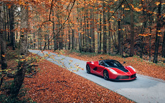 Autumnal. (Alex Penfold) Tags: ferrari laferrari red rosso fuco supercars super car cars autos autumn leaves fall 2018 germany