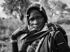 Mursi Woman (Rod Waddington) Tags: africa african afrique afrika äthiopien ethiopia ethiopian ethnic etiopia ethnicity ethiopie etiopian omovalley outdoor omo omoriver mursi tribe traditional tribal woman landscape blackandwhite monochrome mono culture cultural portrait people