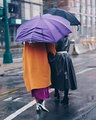 (jspic3) Tags: street purple orange silver style umbrella rain february new york nyc newyork women girl blue road sony a7riii 55mm streetstyle fashion week nyfw