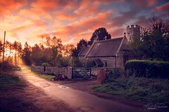 A little old church in Thetford woods (Mandyjj543) Tags: forest church tower trees sunsetssunrises sunrise sunsets sun landscape canon buildings old