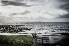 All Quiet!! (BGDL) Tags: lightroomcc nikond7000 bgdl landscape nikkor18105mm3556g seascape bench weather overcast