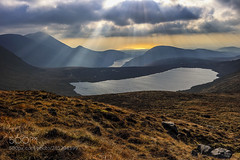 Rays over Shannagh (hoangcuongnokia8800) Tags: 500px mountain range hill peak landscape valley snowcapped scenic rock scenery sunset lake mournes northern ireland