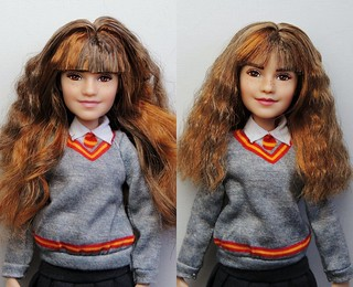 Hermione Doll Before and After