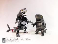 Mecha Shark Lord01 (danielhuang0616) Tags: momoco shark mecha lord lego 2018 moc gun metal
