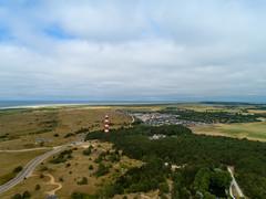 Aerial of Bornrif Lighthouse Ameland