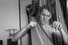 Plucky (Karsten Fatur) Tags: portrait model malemodel gay lgbt lgbtq qaueer queerart naked nude nudeart nudemodel bw blackandwhite ljubljana slovenija harp harpist music musician
