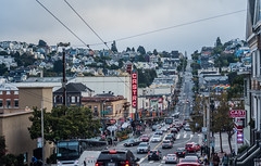 damn yankee's at the castro (pbo31) Tags: bayarea california september 2018 boury pbo31 fall color nikon d810 over view sanfrancisco city urban castro theater traffic roadway marketstrteet film gay llgbtq folsome week infinity neon sign flag