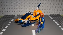 Bi-Breaker (Śląski Hutas) Tags: lego bricks minifig moc scifi futuristic superheroes speeder