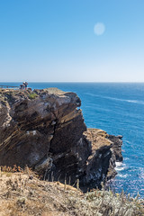 Sea Lion Cove (mon_ster67) Tags: blue hikingtrail trail ptlobos cliff edge cacoast sigma canon sealioncove pacificocean pch pointlobosnaturalreserve pointlobos coastline ocean westcoast ca coast mon horizon