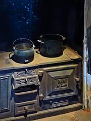 The New Atlas Range (Steve Taylor (Photography)) Tags: oven pot boiling newatlas scottbrosltd chch digitalart design blue black brown metal castiron newzealand nz southisland canterbury christchurch hot magical