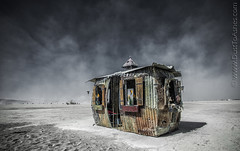 The Little Schoolhouse of Hope and Fear by Gratis;  BM2018 (Dust To Ashes) Tags: burningmanfestival burningman2018 burningman irobot theme burning man bm2018 2018 dust ashes dusttoashes wwwdusttoashesnet sculpture sculptures installation installations surreal playa desert nevada gerlach nv blackrockcity brc art burningmanart desertparty photography photos photo pictures ales warzone bulletholes thelittleschoolhouseofhopeandfear gratis duststorm