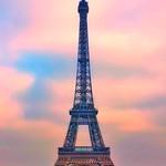 Paris France  -  Eiffel Tower - Parisian Landmark - Exposition of 1889 - Sunset thumbnail