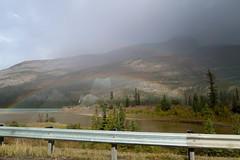 Jasper National Park - rainbow over the Athabasca (Carneddau) Tags: alberta athabascariver canada highway16 jaspernationalpark mtcolin yellowheadhighway lake rainbow jasper ca