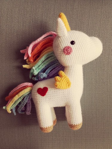Amigurumipatterns.net - Creations - Robin Unicorn from Animal ... | 500x375