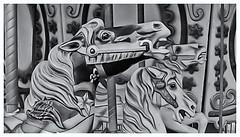 Pentax Auto 110 (1978) (Black and White Fine Art) Tags: pentaxauto1101978 pentax 110film aristaedu100 caballos horses sanjuan oldsanjuan viejosanjuan puertorico bn bw