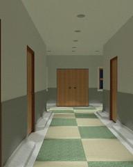 Hallway (jasonwoodhead23) Tags: hallway 3d rendering autocad dwg curbs terrazzo