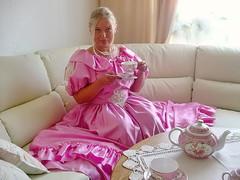 Gorgeous blonde (Paula Satijn) Tags: girl babe lady gorgeous stunning beautiful pink dress gown ballgown satin silk shiny blond blonde tea sexy sensual skirt cute sweet adorable hot lovely classy stylish elegant elegance