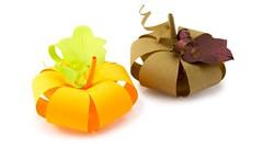 Paper Pumpkin Tutorial - Halloween DIY - Paper Kawaii (paperkawaii) Tags: origami instructions paperkawaii papercraft diy how video youtube tutorial