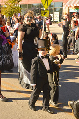 Looking sharp for the parade (radargeek) Tags: dayofthedead okc oklahomacity 2017 october plazadistrict skull facepaint kids child children kid tophat