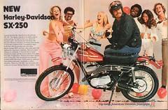 1974 Harley-Davidson SX-250 Motorcycle Advertisement Hot Rod Magazine November 1974 (SenseiAlan) Tags: 1974 harleydavidson sx250 motorcycle advertisement hot rod magazine november