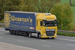 PZU 669 (Martin's Online Photography) Tags: daf xf truck wagon lorry vehicle m6 highlegh cheshire nikon nikond7200