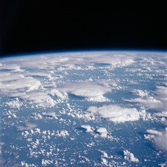 View of Clouds from the Apollo 7 Mission (NASA APPEL Knowledge Services) Tags: apollo wally 101 successful engineering atlantic ocean 50 years orbit tv broadcast live earth planet clouds preparation accomplished objectives mission heroes pilot flight rocket outer space cosmos stars planetary gravity moon lunar nasa headquarters ksc kennedy center module capsule saturn sun american usa astronauts program science physics spacecraft 205