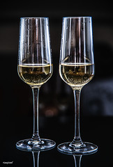 Two glasses of sparkling wine (Rawpixel Ltd) Tags: alcohol alcoholic anniversary background beverage bright bubbles bubbly celebrate celebration champagne closeup cocktail colddrink dining dinner drink drinking event festival festive glass liquid luxury macro name newyearseve nobody pair party prosecco refreshing refreshment romance romantic sparkling sparklingwine splashing two wine wineglass