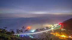 梅山36彎~太平雲梯雲海琉璃~  Cloud night (Shang-fu Dai) Tags: 台灣 taiwan 嘉義 clouds nikon d800e afs1635mmf4 sky 雲海 琉璃 coloredglasslight 梅山36灣 雲梯 太平雲梯 landscape liulilazurite formosa night 夜景 nightscene 天空 風景