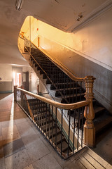 Work on You (waterfallout) Tags: abandoned abandonedarchitecture abandonedcity abandonedhotel abandonedhotels architecture bando bandos hallway hotel hotels interiors stairway stairwell abandonedinteriors woodenbanister abandonedbuilding abandonedbuildings abandonedplace abandonedplaces