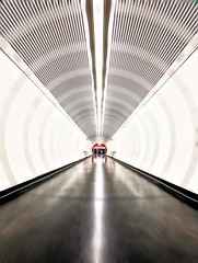 Long Way (CoolMcFlash) Tags: corridor subway station vienna architecture tube tunnel canon eos 60d ubahn wien architektur fotografie photography zoom city stadt urban motion blur symmetry symmetrie