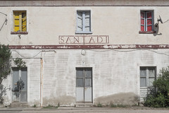 Santadi (____cesco) Tags: sardinia sulcis ferrovie train story italy photography architecture industrial facade fachada town sardegna archive time memory station wall abandoned