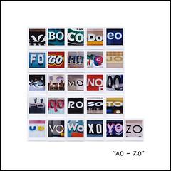 AO - ZO [5x5+1] (art y fotos) Tags: fujifilm sq10 instax square squareformat instant film alamoanashoppingcenter honolulu oahu alphabets signs signage