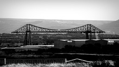 Transporter Bridge (oddbodd13) Tags: transporter bridge tees middlesbrough teesside cleveland hills landscape industry architecture vignette monochrome