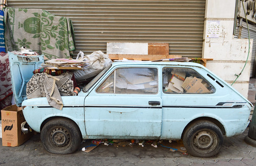 Beat up car