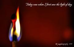 LET THERE BE LIGHT ... (DSC_8605) (jmaphotography) Tags: smileonsaturday copyrightbymankind match light