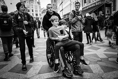 Images on the run... (Sean Bodin images) Tags: streetphotography streetlife seanbodin streetportrait amagertorv nørreport people photojournalism photography copenhagen citylife candid city citypeople children handicap voreskbh visitcopenhagen visitdenmark visualculture