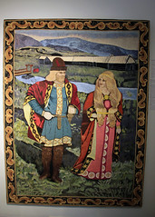 Embroidered Wall Hanging, by Sigriður Einarsdottir (JB by the Sea) Tags: southiceland southconstituency suðurkjördæmi southcoast iceland ísland europe september2018 skógar skogar rangárþingeystra skógarfolkmuseum skógasafn sigriðureinarsdottir