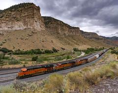 Passing Castle Gate (Colorado & Southern) Tags: bnsfrailway bnsf geet44c4 gec449w manifest manifesttrain trains train rr railfanning railroad railfan railway railroads railroading rail railroadtrack utah utahrailfanning utahrailroads utahtrain utahtrains utahrailfan locomotive locomotives
