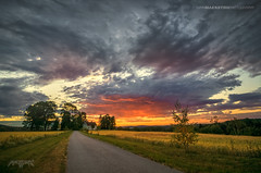 Askim, Norway 0371 - Road and House at Sunset (IVAN MAESSTRO) Tags: sunset sunrise askim norway sony landscape canon maesstro hdr