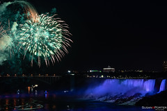 Fire over the Falls (ThoughtSusan) Tags: niagarafalls fireworks night